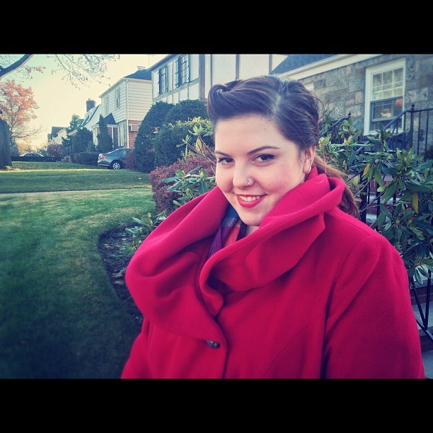 The beautiful Mary Lambert @marylambertsing on Thanksgiving in Queens, NY