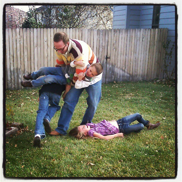 Uncle Chris, using one kid to beat another kid.