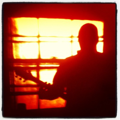 The Colour and the Shape #shadow #shadowplay #silhouette #guitar #music #light #contrasty #foofighters #instrument #playingguitar #iphoneonly #4s