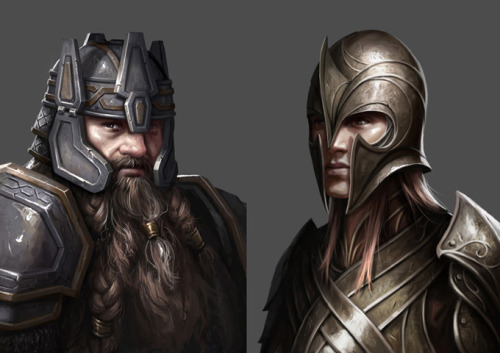 "The Hobbit: The Third Age, ilustraciones de Mike ""Daarken"" Lim"