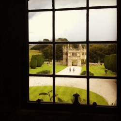 0octarine:  Through the casement #castle #gatehouse #Lanhydrock #Cornwall #royal #window #garden #view