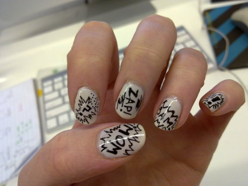 bullique:  Comic Nails.. BAM!