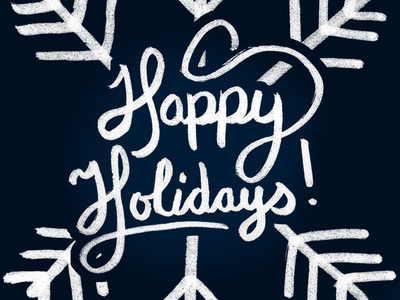(via Dribbble - Happy Holidays by Stephen Kistner)