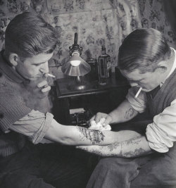 Tattoo parlor in the 1920's