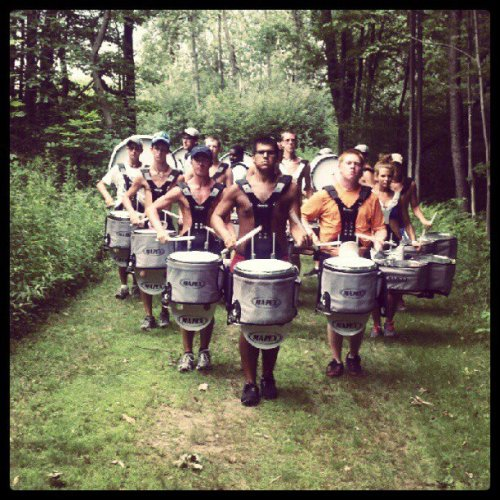 MCDC drumline tracking in the woods of Pennsylvania.