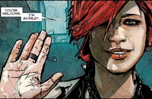 Scarlet #1 (Icon, 2010)  Damn.  Thankful for Bendis and Maleev.