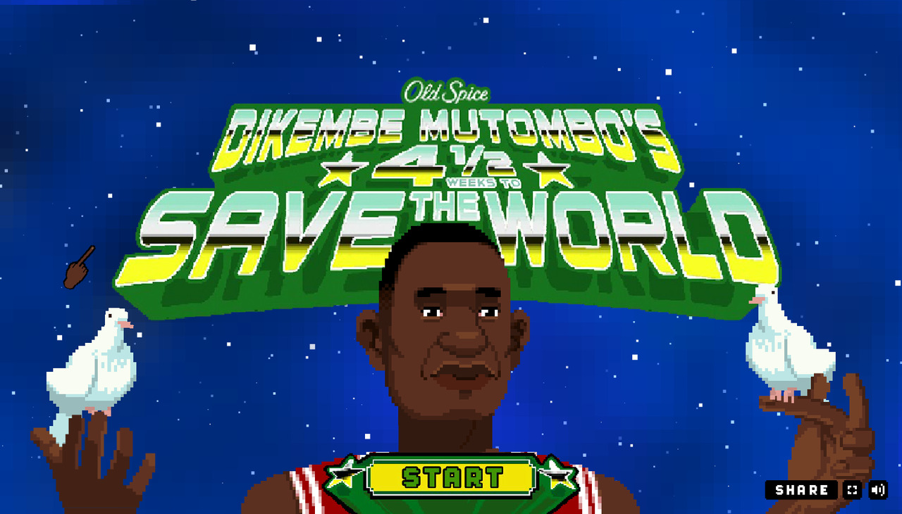 NBA star Dikembe Mutombo featured in CRAZY video game.
