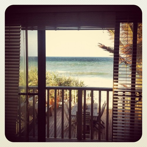 Bedroom view in Byron Bay (at Belongil Beach)