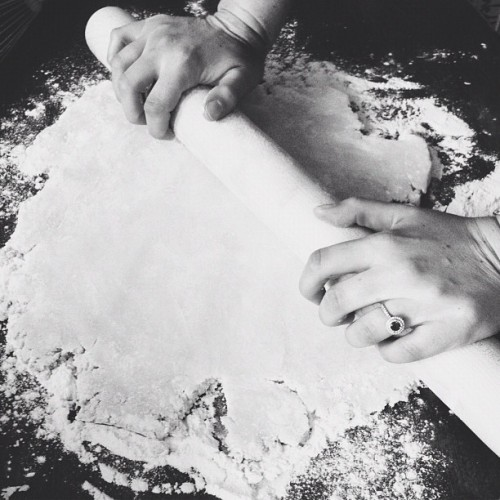 rolling out pie dough. #thanksgiving #pies #dessert