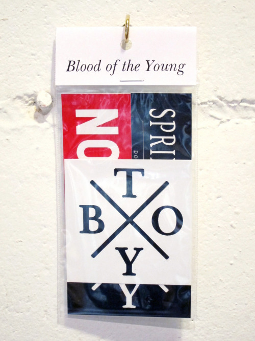 bloodoftheyoung:  BOTY Sticker packs out now. Stickers on everything! You've seen these up around on almost all of the continents, get some for yourself and crew up, friend.