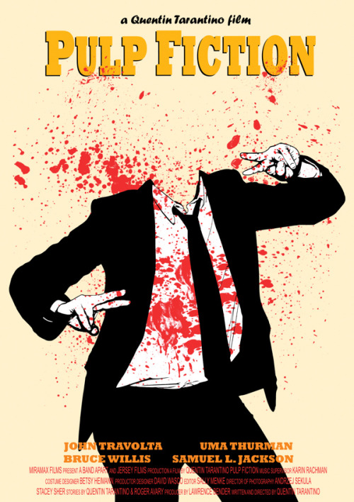 Pulp Fiction - by Danna Podstudensek Artist: Behance || Flickr || Facebook