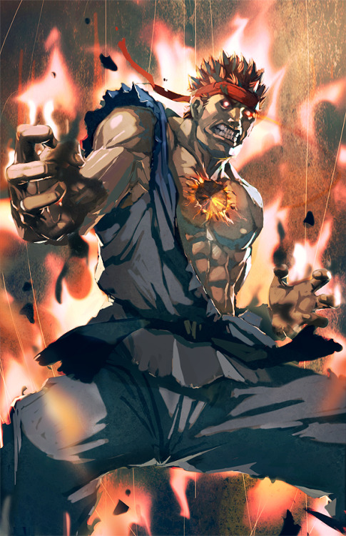 Evil Ryu: Dark Hadou // artwork by Leon Jo (2012)