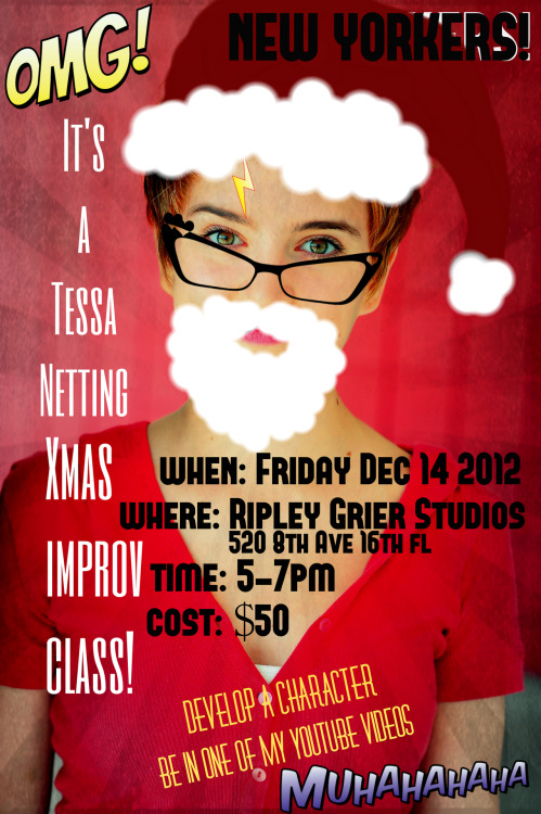 *******THIS IS NOW ON FRIDAY DECEMBER 28TH************* Email me at info@tessanetting.com to reserve a spot and message me for any questions!! :D