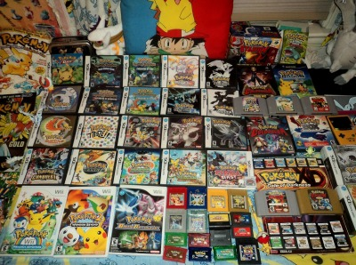 pelipper:  All of my Pokemon games!