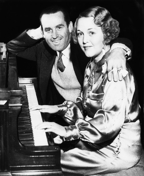 Harold Lloyd and Mildred Davis at the piano, 1935.