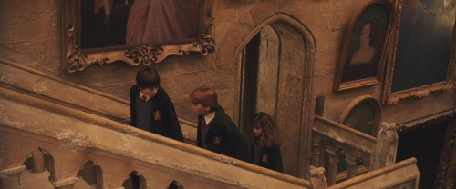hptriviatrivia:  Found in the movie Harry Potter and the Sorcerer's Stone: Among the portraits on the shifting staircase, you can clearly see a painting of Anne Boleyn (King Henry VIII's second wife, mother of Queen Elizabeth I), who was condemned to death as a witch.