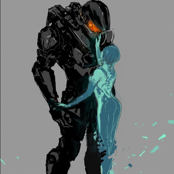 forwarduntoinfinity:  johnnygravemind:  Love #masterchief #cortana #ai #halo4 #halo #343industries #xbox #beautiful #art #love  ;3;  I've always wanted to do that.