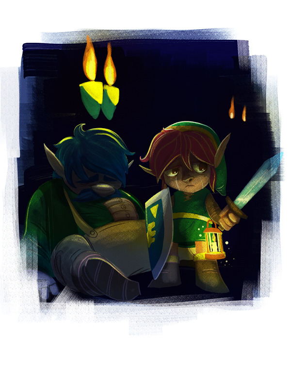 Been re-playing A Link to the Past, so my cooldown doodles have been all Zeldified and stuff this week…
