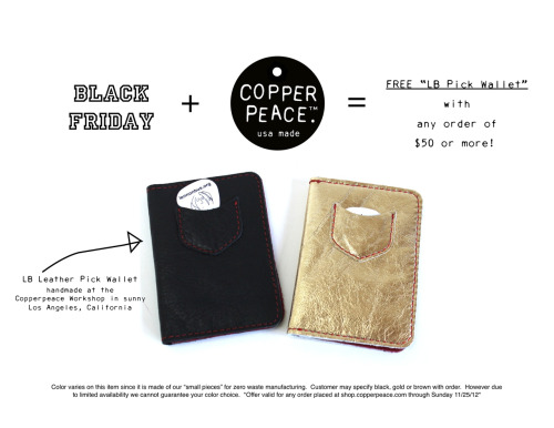 Happy Black Friday!  shop.copperpeace.com