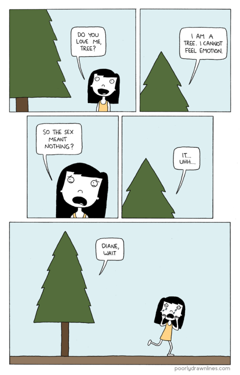 "iheartchaos:  Sunday morning comics: ""Do You Love Me Tree?"""