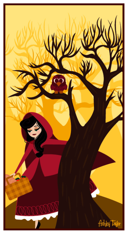 loveashleydesigns:  Little Red Riding Hood print added to my new Etsy Shop! http://www.etsy.com/shop/LoveAshleyDesigns