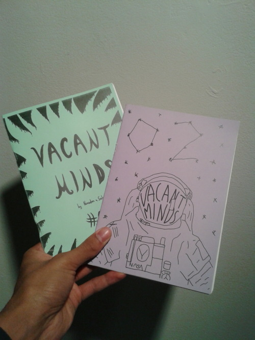 one11zine:  The mail keeps coming in!Today we got issues 1 and 2 of Vacant Minds.Such excellent stuff.http://vacant-minds.tumblr.com/Who's up for a zine trade?