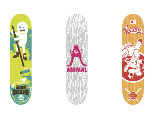 First 3 ANIMAL boards are off to the manufacturer to be produced. My re-issue will be avail in an old school shape as well. Took some time but finally moving forward. design john drake