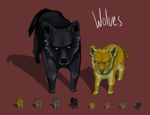Nothing fancy with this one, just some wolves.