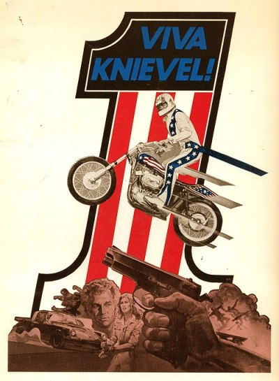 Viva Knievel! movie poster from the 1977 action film.