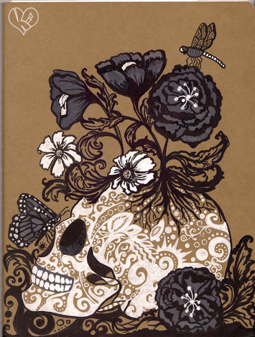 This is the finished artwork cover on my new Moleskine sketchbook. So far it's the only artwork on my sketchbook. Hahah! I haven't had time to draw lately.   I submitted this to fuckyeahmoleskines.tumblr.com and moleskinelovers.tumblr.com but haven't had time to post it on my own blog, so here it is.  Click This to see it when it was still in progress.