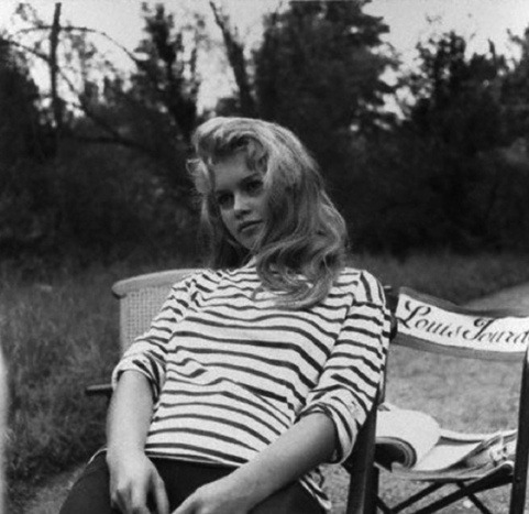 theniftyfifties:  Brigitte Bardot on location, 1950s.
