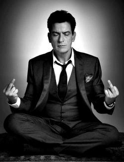 dailycoolmag:  Charlie Sheen.