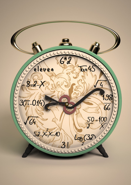 definitelydope:  My Scientific Clock (by Oncle Shanabo)  I WANT THIS. OMG THE INTEGRAL HAND AHHHHHHH