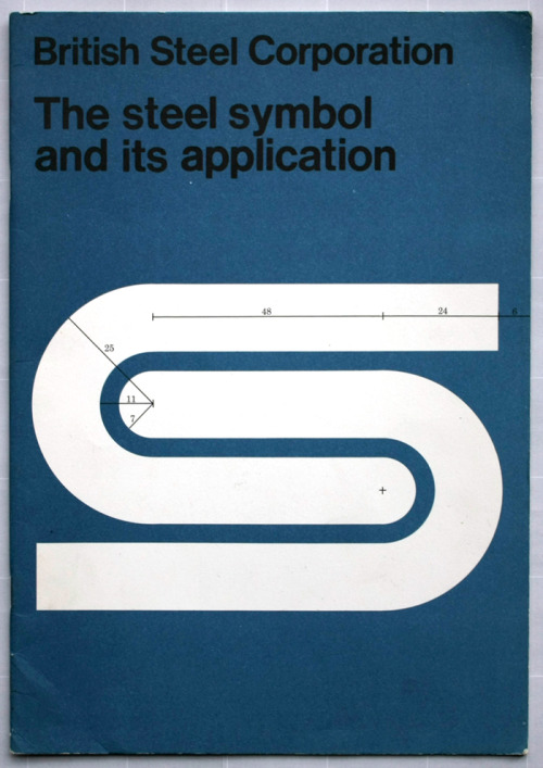 david gentleman's logo for british steel and it's insane corporate identity booklet cover