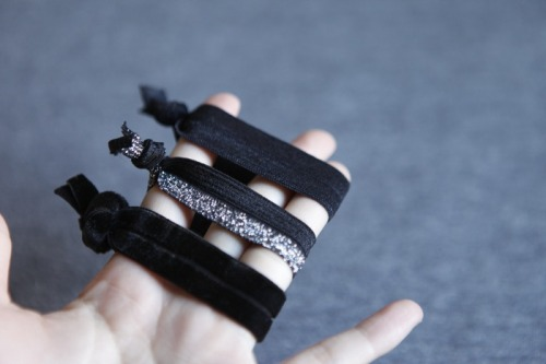 scissorsandthread:  Hair Elastics | Hello Whimsy If you're one of those people who likes to wear their hair elastics on your wrists, then these ties are perfect! They're so pretty and super easy to make - the hardest part will be choosing the elastic you want to use!