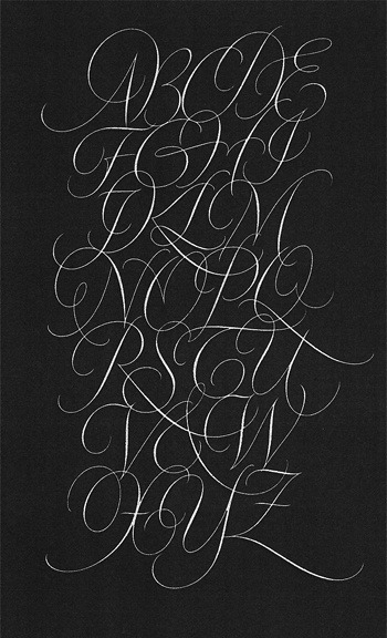Typeverything.com Copperplate by Fred Salmon. (via type-lovers)