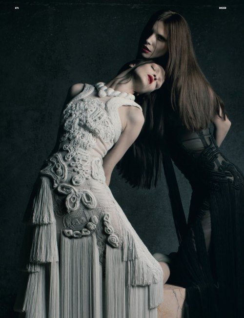 Mariacarla Boscono & Lea T by Matthew Stone for Dazed & Confused October 2011