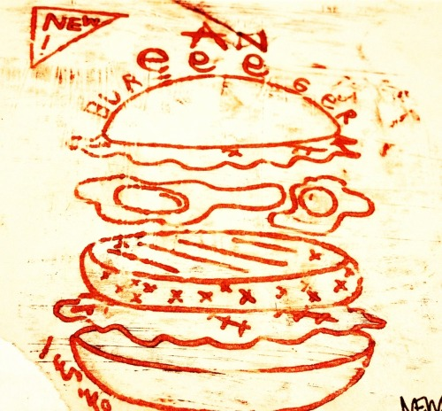 Etching egg burger!