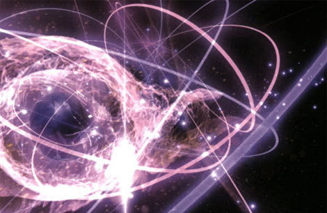 "What is Quantum Physics? Quantum physics is a branch of science that deals with discrete, indivisible units of energy called quanta as described by the Quantum Theory. There are five main ideas represented in Quantum Theory: Energy is not continuous, but comes in small but discrete units.  The elementary particles behave both like particles and like waves.  The movement of these particles is inherently random.  It is physically impossible to know both the position and the momentum of a particle at the same time. The more precisely one is known, the less precise the measurement of the other is The atomic world is nothing like the world we live in. While at a glance this may seem like just another strange theory, it contains many clues as to the fundamental nature of the universe and is more important than even relativity in the grand scheme of things (if any one thing at that level could be said to be more important than anything else). Furthermore, it describes the nature of the universe as being much different then the world we see. As Niels Bohr said, ""Anyone who is not shocked by quantum theory has not understood it."""