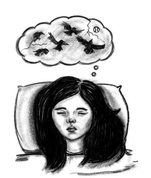 made this doodle for my new blog about dreams and nightmares