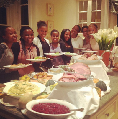 "Oprah: ""Dinner Finally! Our House to yours. Happy thanksgiving!"" [via Instagram]"