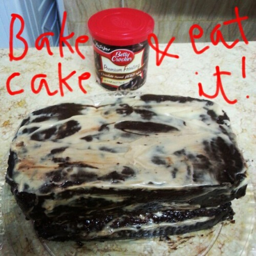 Don't judge. #bake #chocolate #cake