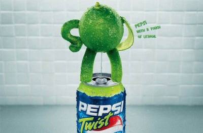 Pepsi with a touch of lemon. Pepsi Twist Ad, unknown agency
