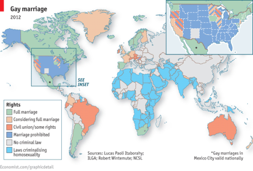 Mapping marriage equality around the world