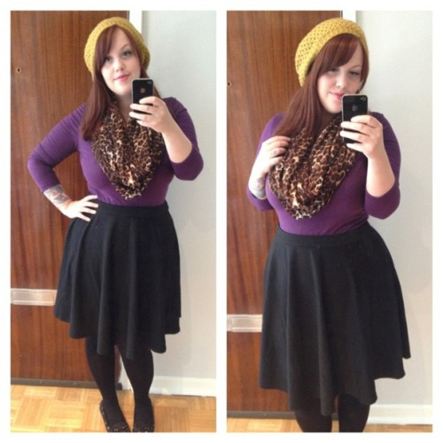 pledgingmylove:  I feel like crap but at least I look cute!! #nofilter #ootd #fatshion #redhead