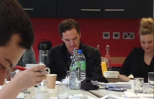 cumberbuddy:  Benedict at the Neverwhere read through today! Source; https://twitter.com/smarticus62/status/271977796732080128/photo/1