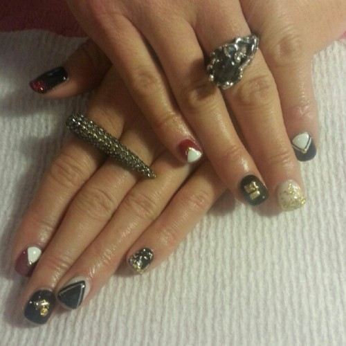 Pretty mix! #nailart #nailsdid #nails
