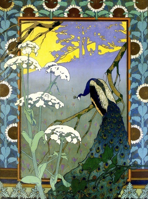 fuckyeahvintageillustration:  'Le Soir', a decorative panel by Camille Martin (1861-1898) (Source)