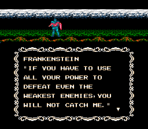 Frankenstein: The Monster Returns, NES.