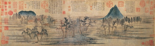 composition-improvisation:  Zhao Mengfu, Autumn Colors on the Qiao and Hua Mountains, c. 1296 [Yuan dynasty]